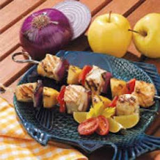 Apple Halibut Kabobs