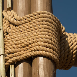 Show me the ropes by Alan Cline - Abstract Patterns ( rope, tying, lashing, ropes, fastening )
