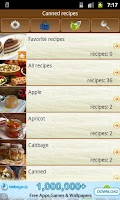Screenshot of Canning recipes