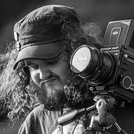 A man and his cam by Jason Eaton - People Portraits of Men ( explore, wales, camera, hobby, people, photography, human, adventure, mamiya, snowdonia, passion, man, friend, gwynedd )