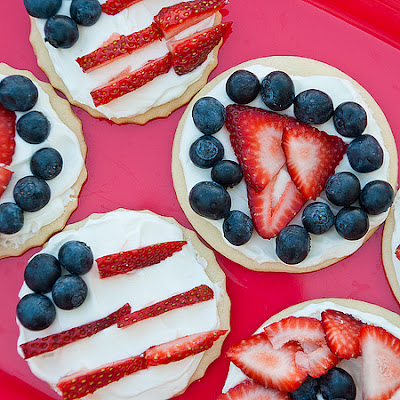 Red, White, and Blueberry Cookie Tarts
