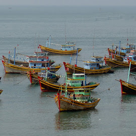 Fishingboats by Benny Berget - Transportation Boats