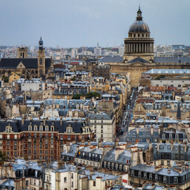 View from Notre Dame by Mike Trahan - City,  Street & Park  Historic Districts ( pixotoed, paris, skyline, hdr, france )