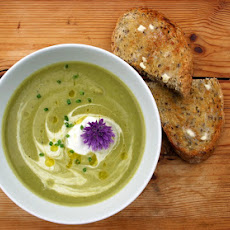 Celeriac, Lettuce And Pea Soup
