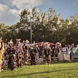 Kansas Annual Pow Wow by Esther Lane - People Group/Corporate ( american indian, pow wow, topeka, tribers, kansas, potawatomi nation, people, crowd, humanity, society )