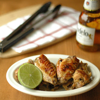 Crockpot Beer Glazed Honey Lime Chicken Wings