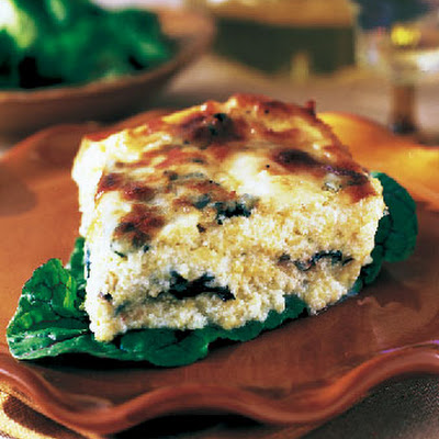 Baked Polenta with Swiss Chard and Cheese