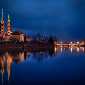 Wroclaw at night by John Einar Sandvand - City,  Street & Park  Night