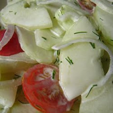 Easy Lemony-Dilly Cucumber Salad