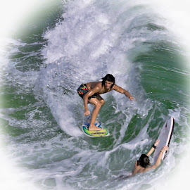 Surfing dudes  by Rick Danuser - Sports & Fitness Surfing ( fl, fort walton beach )