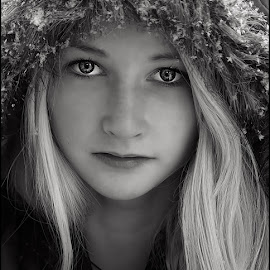by Jane Bjerkli - Black & White Portraits & People ( child, b&w, black and white, portrait,  )
