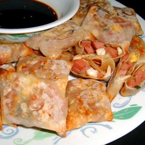 Spam And Pineapple Spring Rolls With Homemade Sweet And Sour Sauce ...
