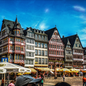 Frankfurt by Andrea Conti - City,  Street & Park  Historic Districts ( frankfurt, houses, germany, square, francoforte, district, historic, romerberg, city )