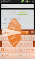 Screenshot of Orange Keyboard