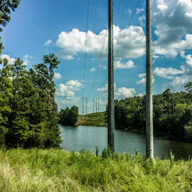 power lines by Trey Walker - Novices Only Landscapes ( water, power, lines, nikon, woods )