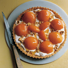 Hazelnut Frangipane Tart with Apricots and Softly Whipped Creme Fraiche