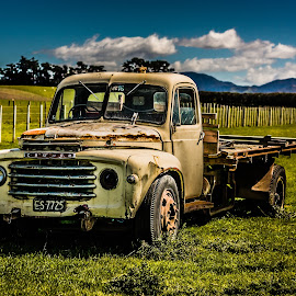 Abandoned Truck by Paulo Hodgson - Transportation Automobiles ( farm, hdr, truck, vehicle, abandoned )