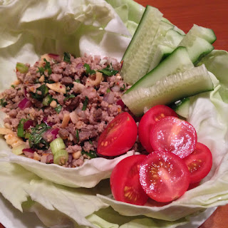 Thai Spicy Pork Mince Salad recipe (Larb Moo) (Paleo)