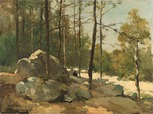 RIJKS: Johan Hendrik Weissenbruch: Wooded View near Barbizon 1900
