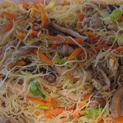 Pork and Mushroom Fried Rice Noodles