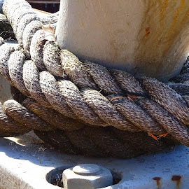 Rope on Cleat by Judy Dean - Artistic Objects Industrial Objects ( cleat, rope, tie, boat,  )