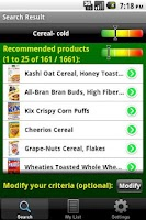 Screenshot of Eat What? weight loss diet
