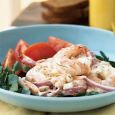 Shrimp and White Bean Salad with Creamy Lemon-Dill Dressing