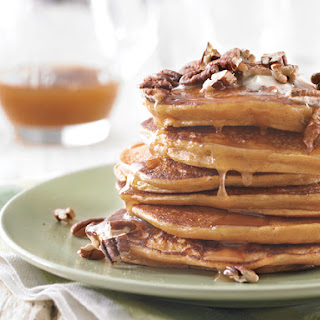 Sweet Potato Pancakes with Pecans and Brown Sugar Sauce