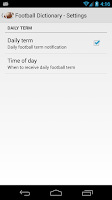 Screenshot of Football Dictionary