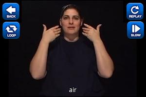 Screenshot of ASL Dictionary