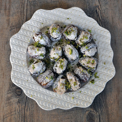 Dates Stuffed with Rosewater-Almond Paste