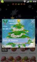 Screenshot of GO SMS Pro Christmas Tree v2