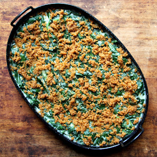 Creamed Spinach with Spiced Bread Crumbs