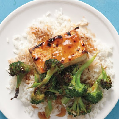 Soy-Maple Broiled Tofu with Broccoli