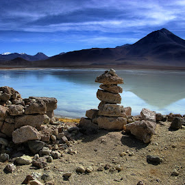 rocks on the lake by Guy Gillade - Landscapes Caves & Formations ( lake, bolivia, rocks )