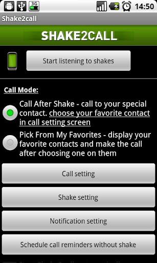 Shake2call