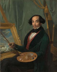 RIJKS: attributed to Friedrich Carl Albert Schreuel: Portrait of Raden Syarif Bustaman Saleh 1840