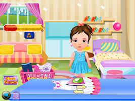 Screenshot of Home Laundry Girls Games