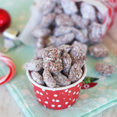 Chocolate Peppermint Chex Mix (Candy Cane Muddy Buddies!)