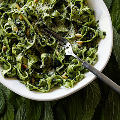 Tagliatelle with Nettle and Pine Nut Sauce