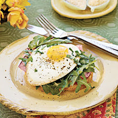 Open-Face Ham-and-Egg Sandwich