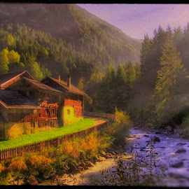 impresionism ... by Petr Klingr - Landscapes Travel ( hdr, ray of light, house, sunlight, river )