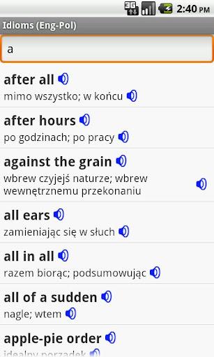 English-Polish Idioms
