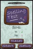 Screenshot of Spelling Test