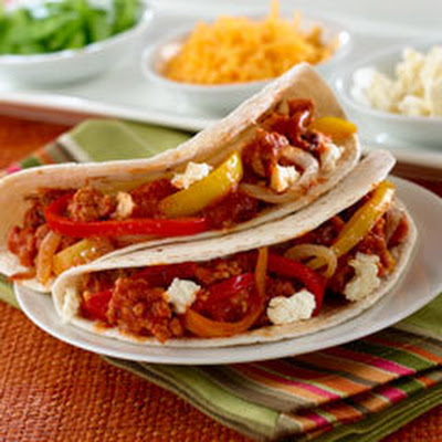 Chipotle Sausage & Pepper Tacos