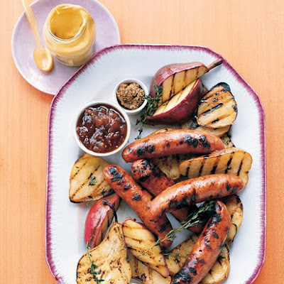 Grilled Chicken Sausage with Pears