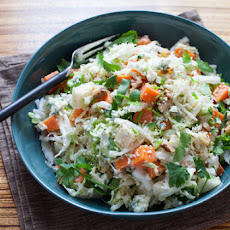 Chopped Napa Cabbage Salad with Creamy Ginger-Lime Dressing