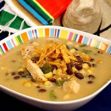 Cheesy Chicken and Bean Soup