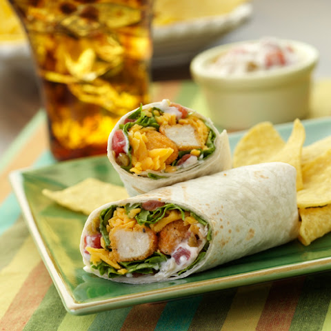 Spicy Crunchy Chicken Wraps