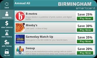 Screenshot of My City Smartcard